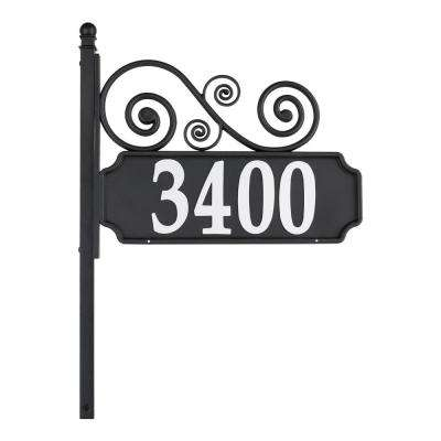 Nite Bright Acanthus Rectangle Reflective Address Post Sign