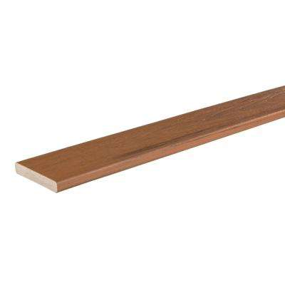 Tropical Collection 47/50 in. x 5-9/25 in. x 16 ft. Antigua Gold Square Edge Capped Composite Decking Board