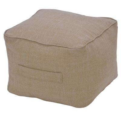 Toffee Ogee Outdoor Pouf Cushion