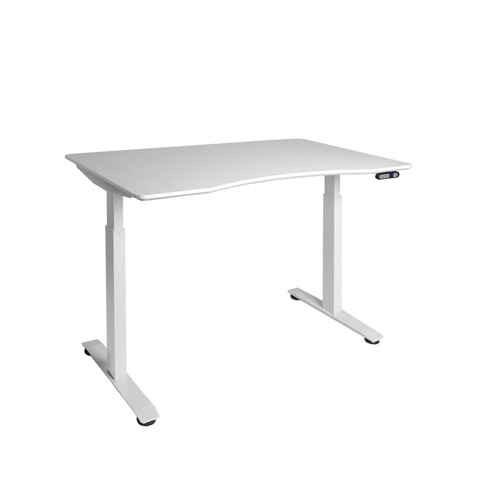 Seville Classics Airlift S2 White Electric Standing Desk With Top 4 Memory Ons