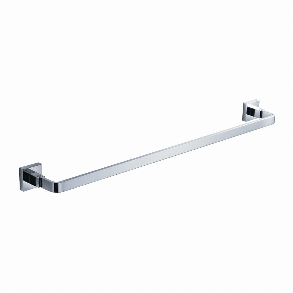 Aura Bathroom 24 in. Towel Bar in Chrome
