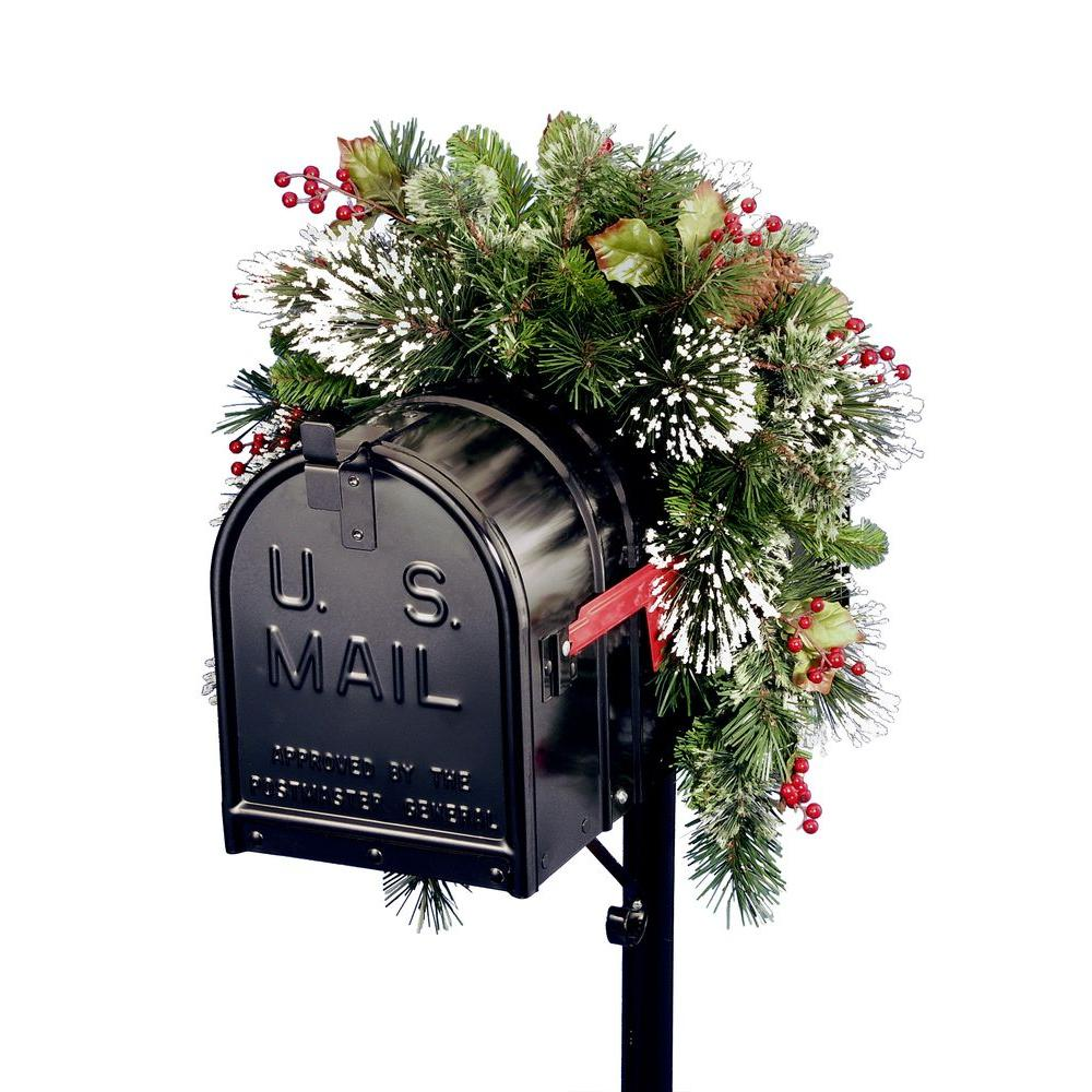 wintry pine collection mailbox cover