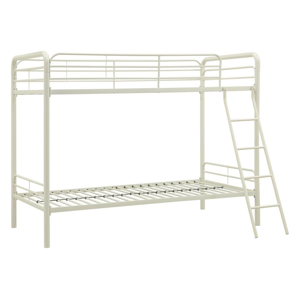 Dhp Elen White Twin Metal Bunk Bed