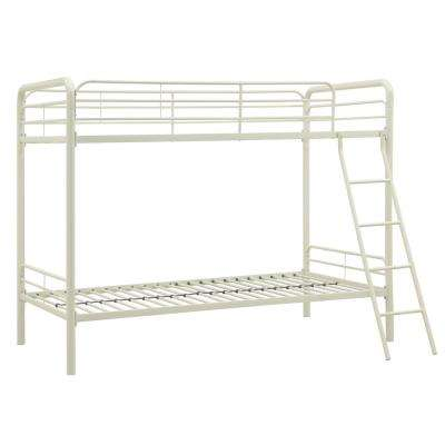 Elen White Twin Metal Bunk Bed