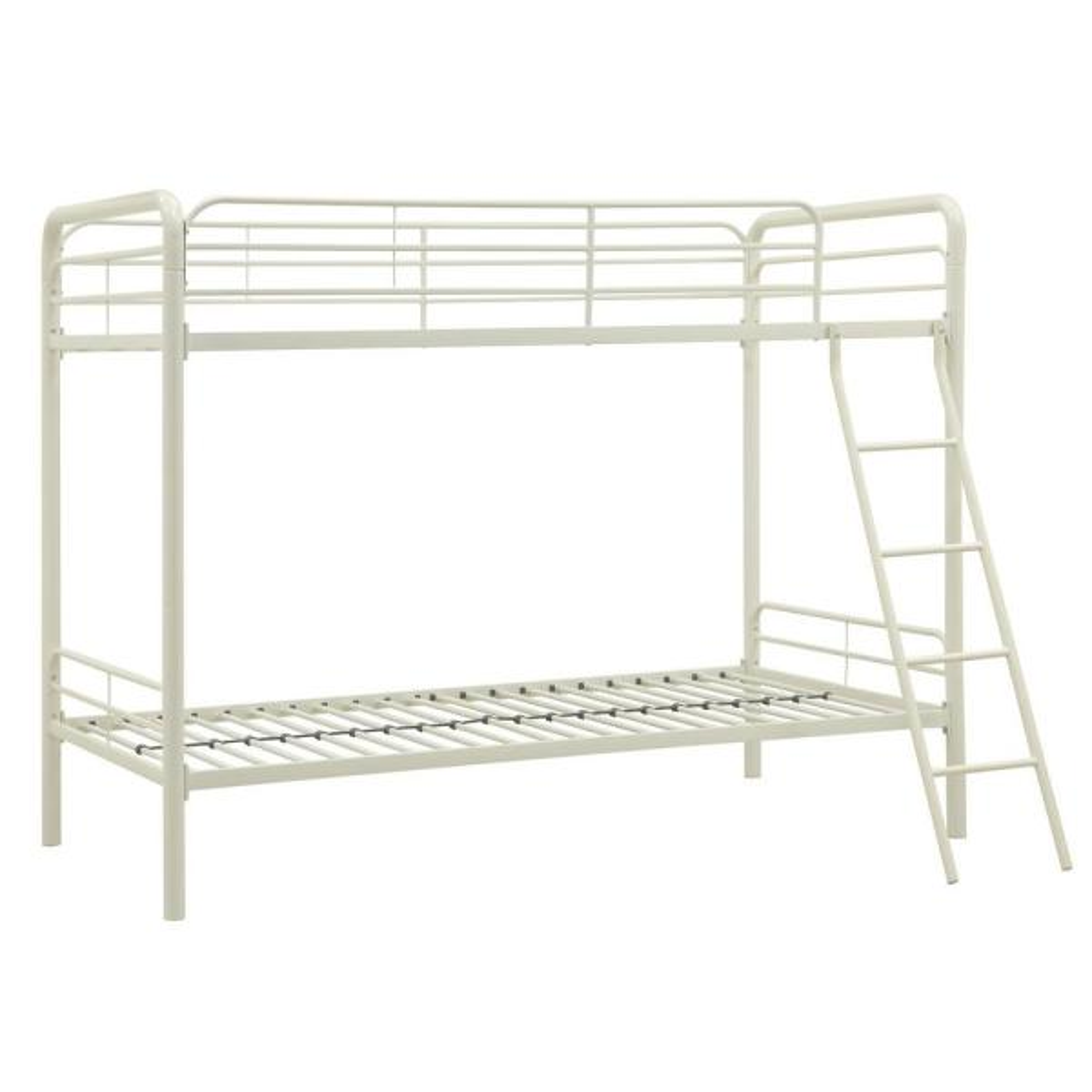 DHP Elen White Twin Metal Bunk Bed DE40091