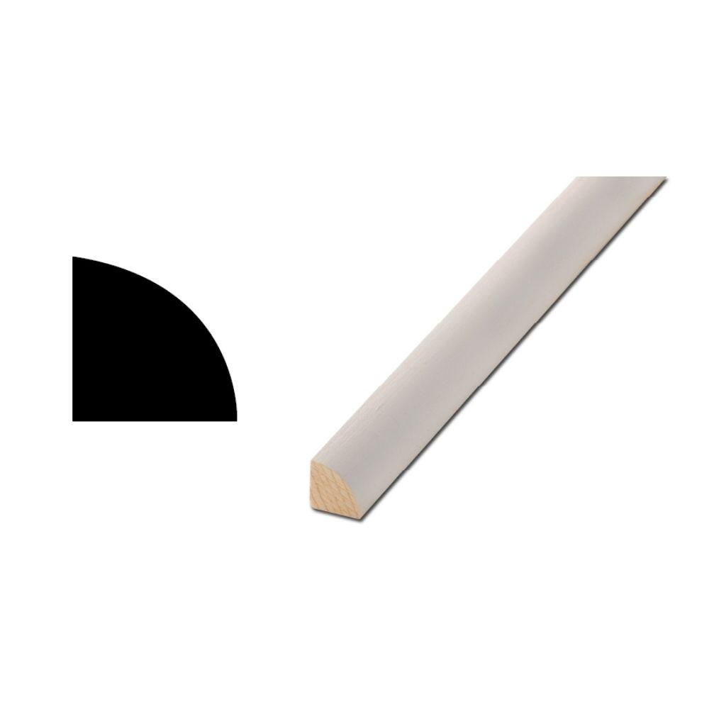 Woodgrain Millwork WM 106 11/16 in. x 11/16 in. x 96 in. Primed Finger-Jointed Quarter Round Molding