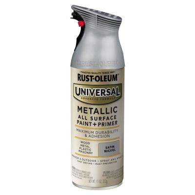 11 oz. All Surface Metallic Satin Nickel Spray Paint and primer in One (6-Pack)