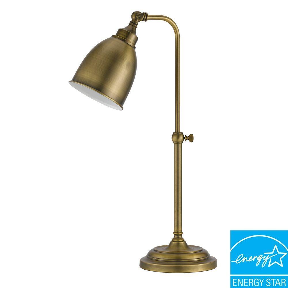 Cal Lighting 7 In Antique Bronze Metal Adjustable Pharmacy Table