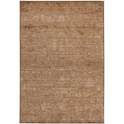 Martha Stewart Soft Anthracite/Camel 6 ft. 7 in. X 9 ft. 2 in. Area Rug