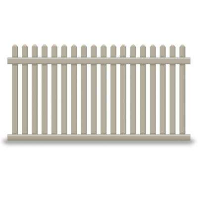 Provincetown 4 ft. H x 8 ft. W Khaki Vinyl Picket Fence Panel