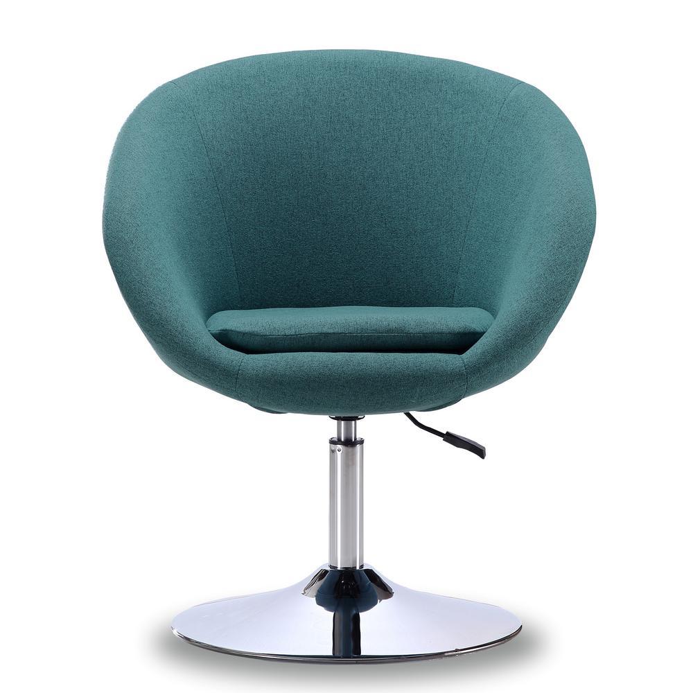 Sky Blue Hopper Swivel Adjustable Height Chair