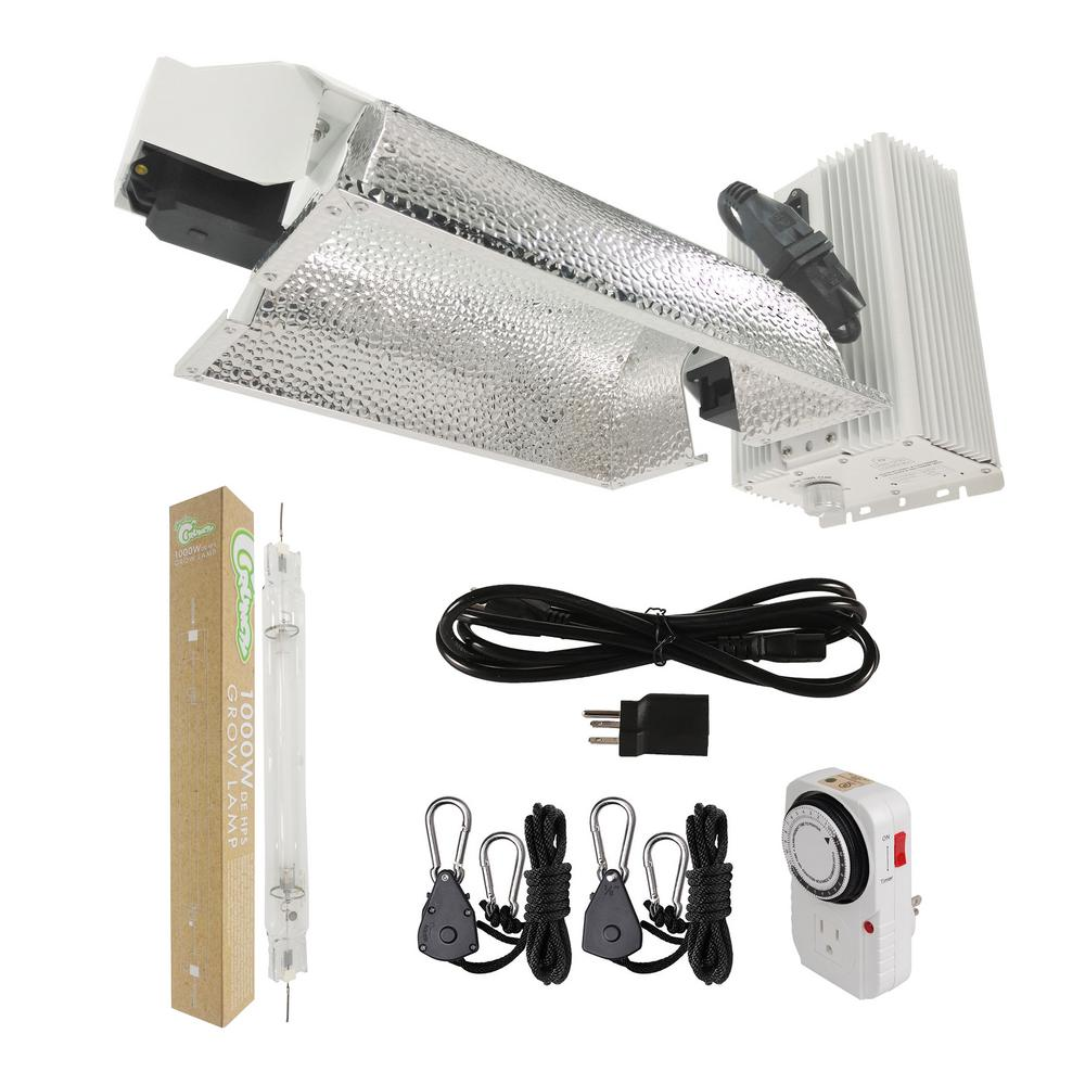 1000-Watt Double Ended HPS Pro Series Grow Light System 120-Volt/240-Volt with