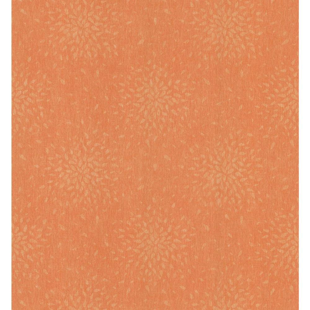 Simple Space Medium Orange Sunburst Wallpaper Sample