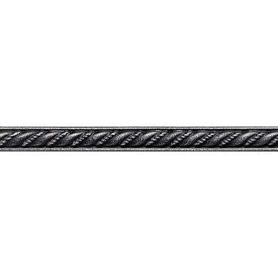 Ion Metals Antique Nickel 1/2 in. x 6 in. Composite of Metal Ceramic and Polymer Rope Liner Accent Tile