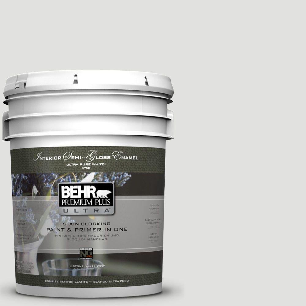 5-gal. #BL-W13 Silver Polish Semi-Gloss Enamel Interior Paint