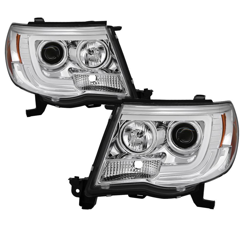 Toyota Tacoma 05-11 Version 2 Projector Headlights - Light Bar DRL - Chrome