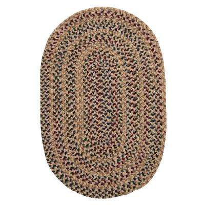 Petra Oatmeal 12 ft. x 12 ft. Round Braided Area Rug