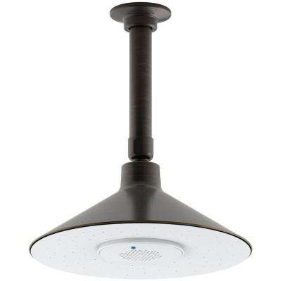Moxie 1-Spray 3.125 in. Rainhead with Wireless Speaker Showerhead in Oil Rubbed Bronze