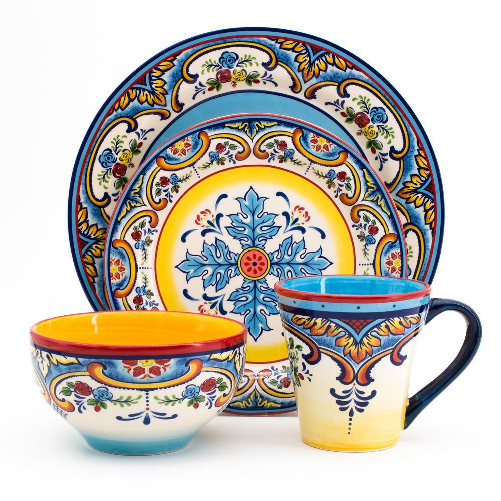 Euro Ceramica Zanzibar 16 Piece Stoneware Dinnerware Set