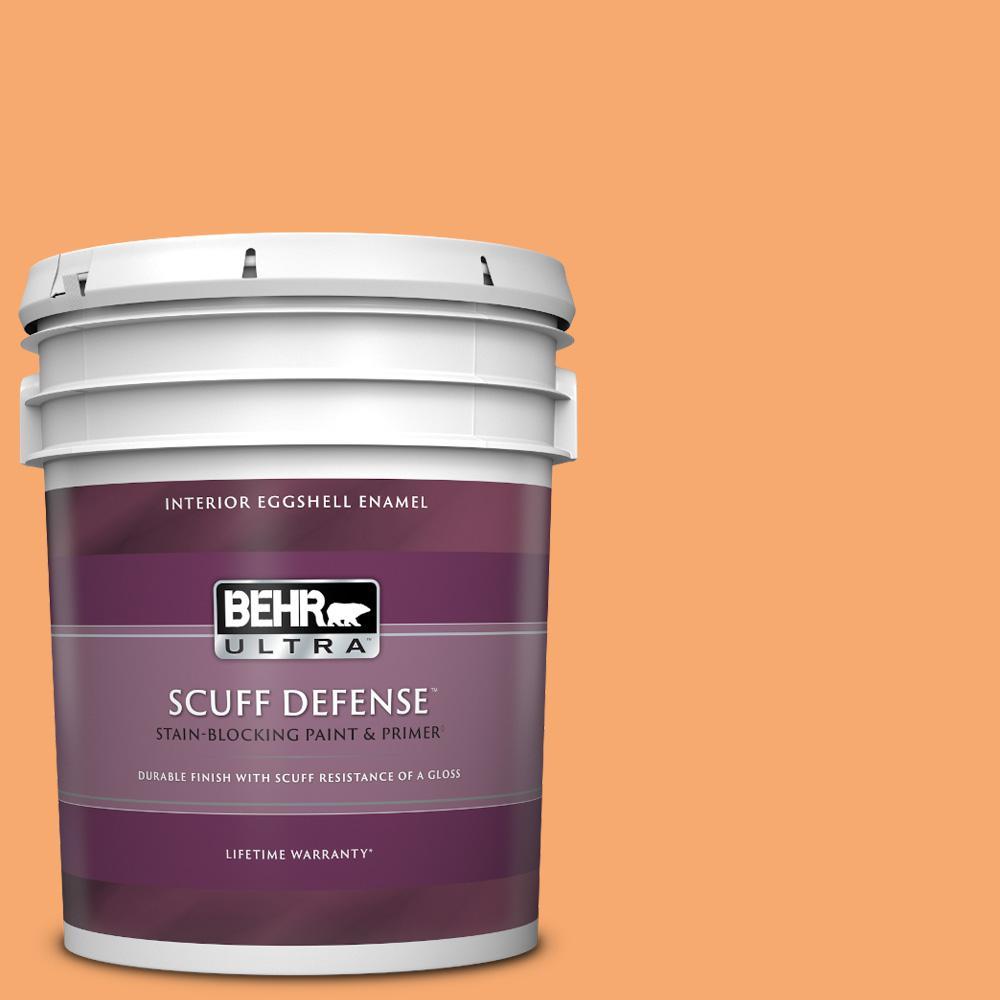 Behr Ultra 5 Gal P230 5 Florida Sunrise Extra Durable Eggshell Enamel Interior Paint Primer 275405 The Home Depot