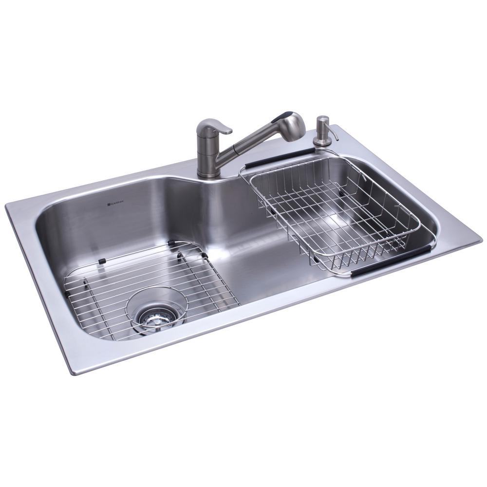Stainless Steel Kitchen Sink Single Basin