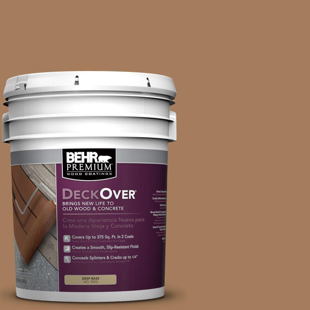 BEHR Premium DeckOver 5 gal. #SC-158 Golden Beige Wood and Concrete Coating