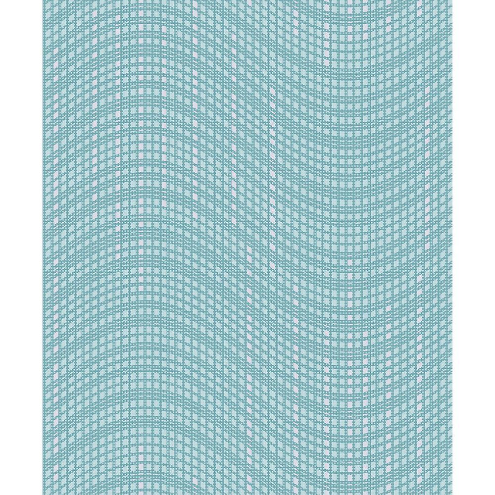 57.8 sq. ft. Prudence Aqua Wave Wallpaper