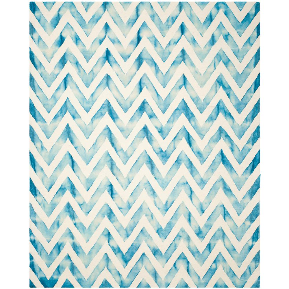 Safavieh Wyndham Turquoise Green 8 Ft X 10 Ft Area Rug: Safavieh Dip Dye Ivory/Turquoise 8 Ft. X 10 Ft. Area Rug