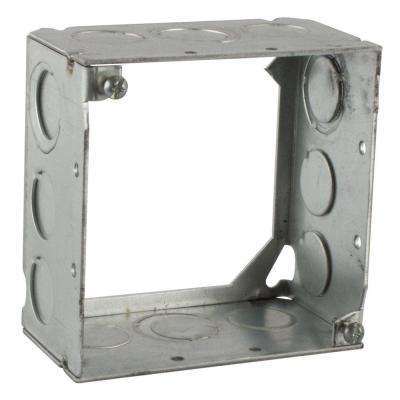 4 in. 30.3 cu. in. Pre-Galvanized Steel Square Box Extension Ring (Case of 25)
