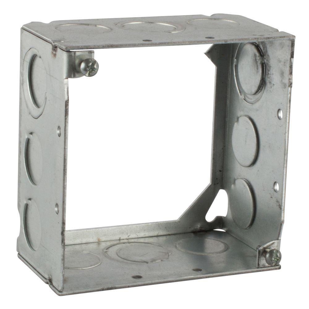 4 in. 30.3 cu. in. Pre-Galvanized Steel Square Box Extension Ring (Case of 25)