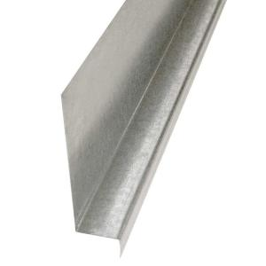 Gibraltar Building Products 5/8 in  x 10 ft  Galvanized Steel  Z-Flashing-17845 - The Home Depot
