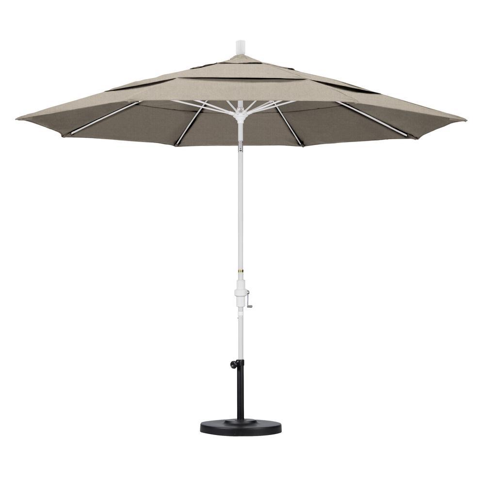 Delicieux California Umbrella 11 Ft. Fiberglass Collar Tilt Double Vented Patio  Umbrella In Granite Olefin