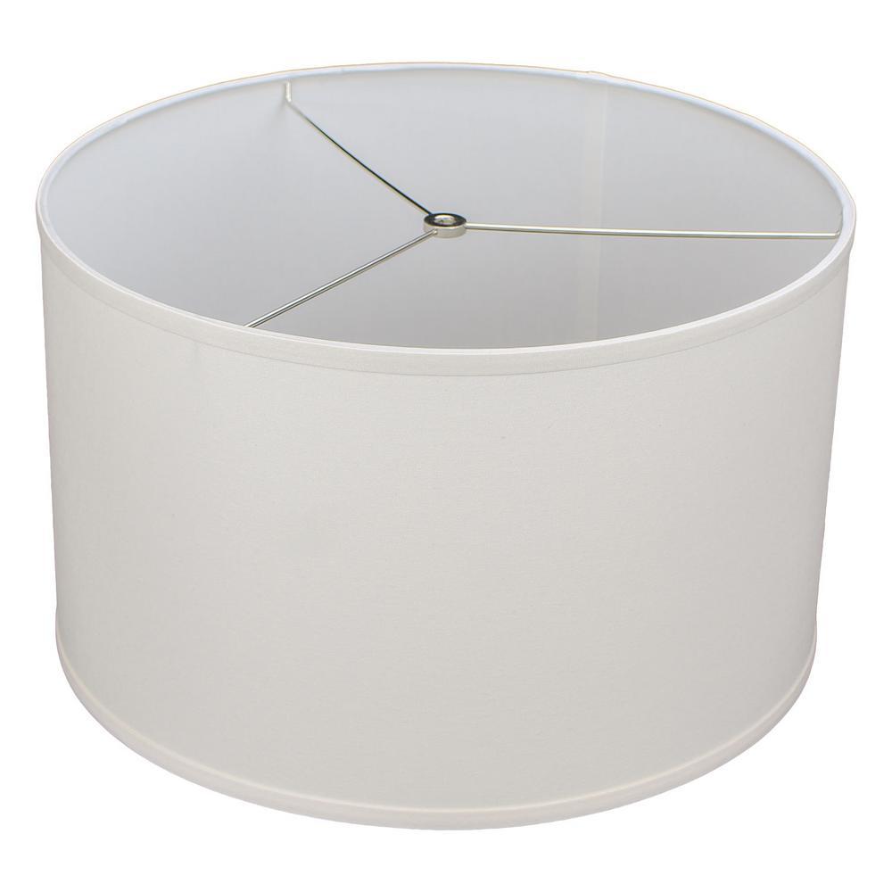 18 in. Top Diameter x 18 in. Bottom Diameter x 11 in. H Linen Cream Drum Lamp Shade