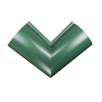 6 in. Half Round Forest Green Aluminum Inside Miter