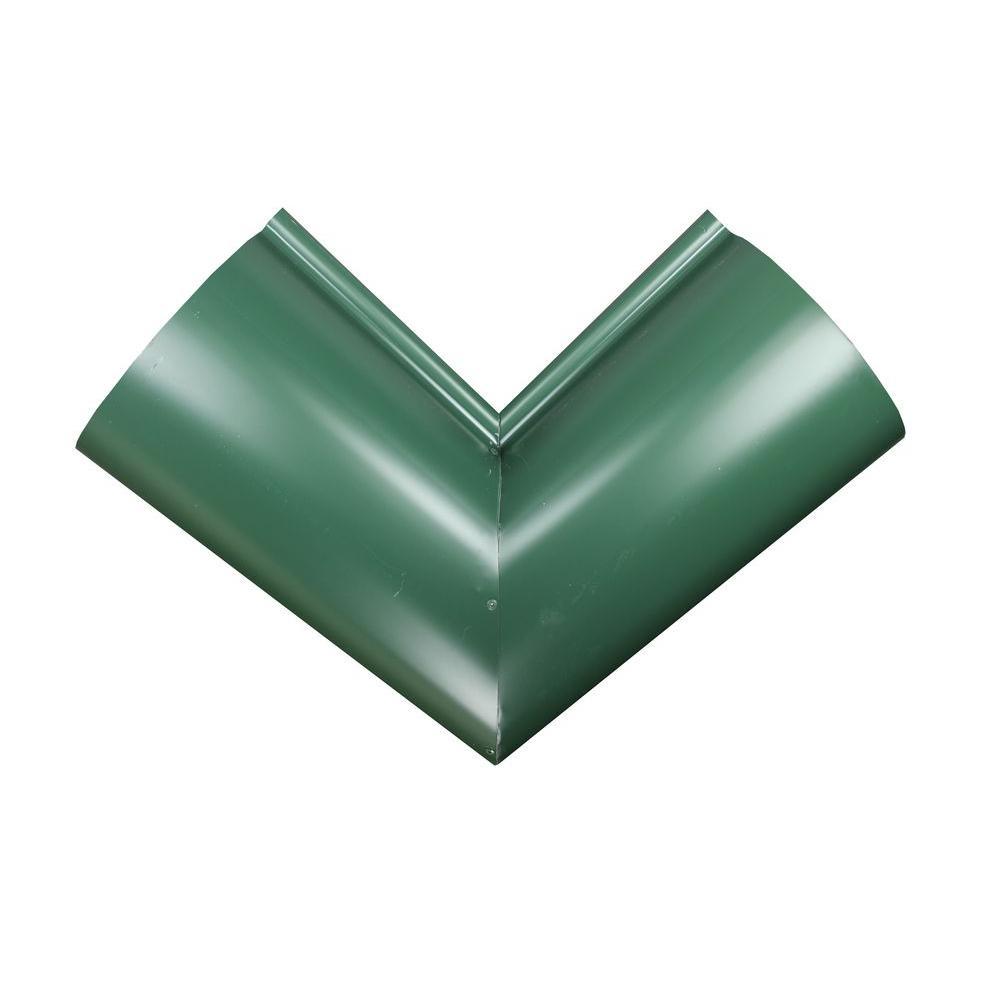 6 in. Half Round Forest Green Aluminum Inside Miter