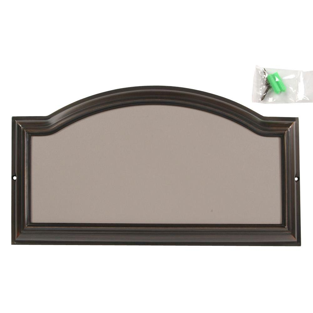 Address plaques address signs the home depot distinctions aged bronze address plaque dailygadgetfo Image collections