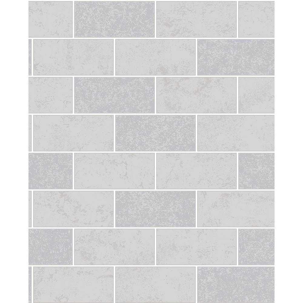 564 sq ft ceramica grey subway tile wallpaper 2900 41461 the ceramica grey subway tile wallpaper dailygadgetfo Choice Image