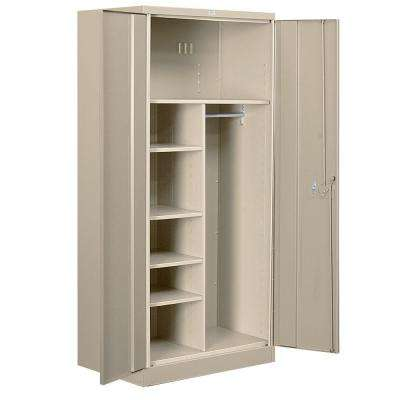 36 in. W x 78 in. H x 24 in. D Combination Heavy Duty Storage Cabinet Assembled in Tan