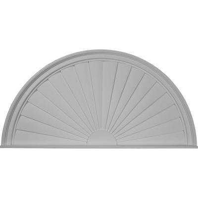 48 in. x 2 in. x 24 in. Half Round Sunburst Pediment