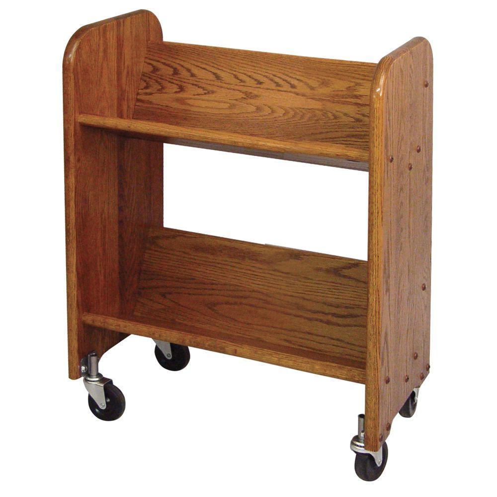 Catskill Craftsmen Bookmaster 2-Shelf Mobile Bookcase