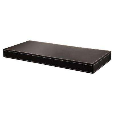 Azure 10 in. Floating Black Leather Shelf (Price Varies by Length)
