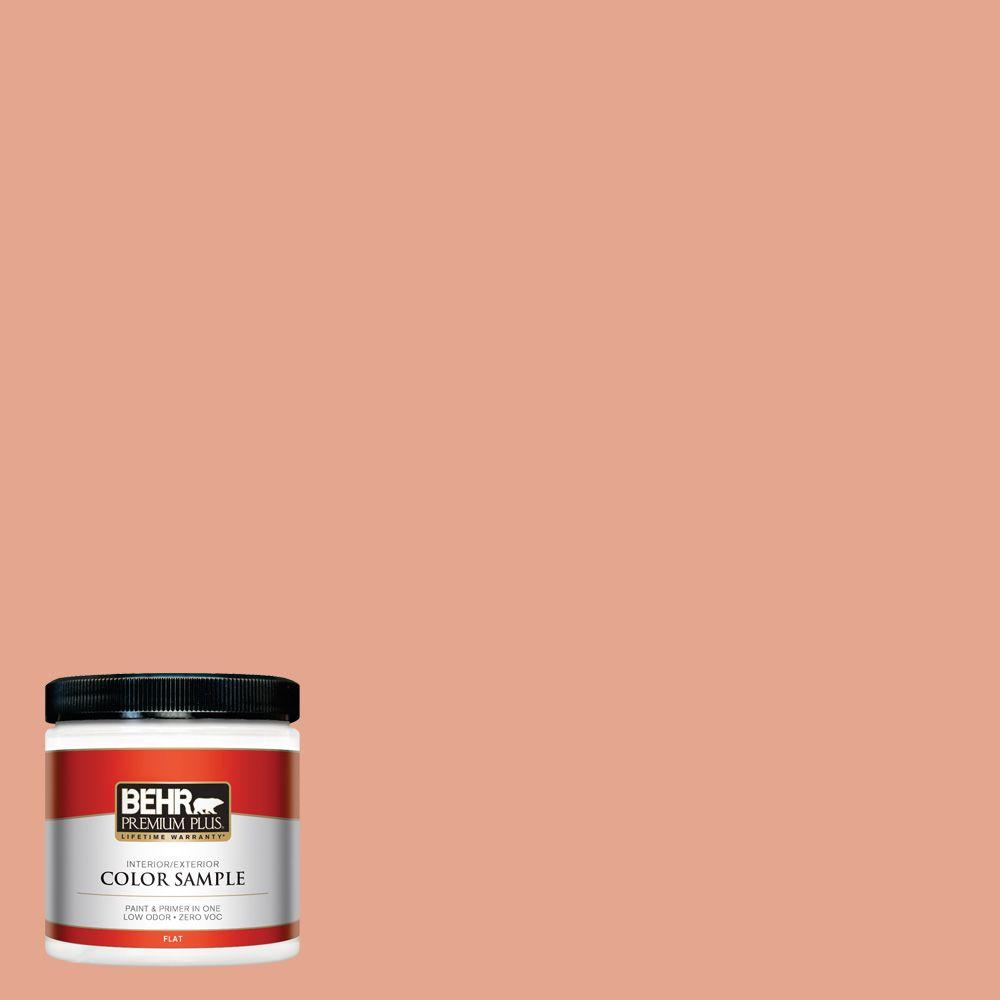 BEHR Premium Plus 8 oz. #M180-4 Priceless Coral Interior/Exterior Paint Sample