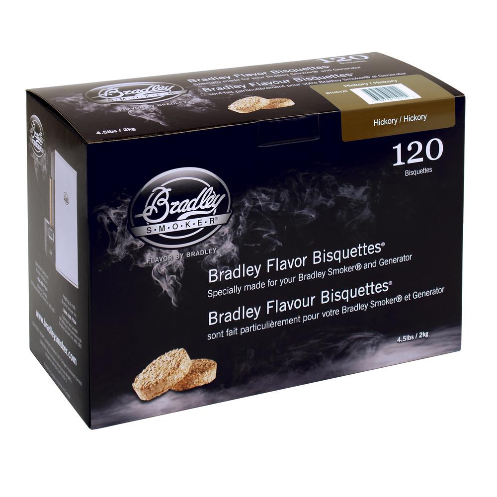 Bradley Smoker Hickory Flavor Bisquettes (120-Pack)