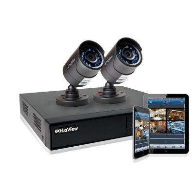 4-Channel 1TB HDD Indoor/Outdoor Day Night Surveillance System and (2) HD 720P Camera 1 Bonus Channel Remote View