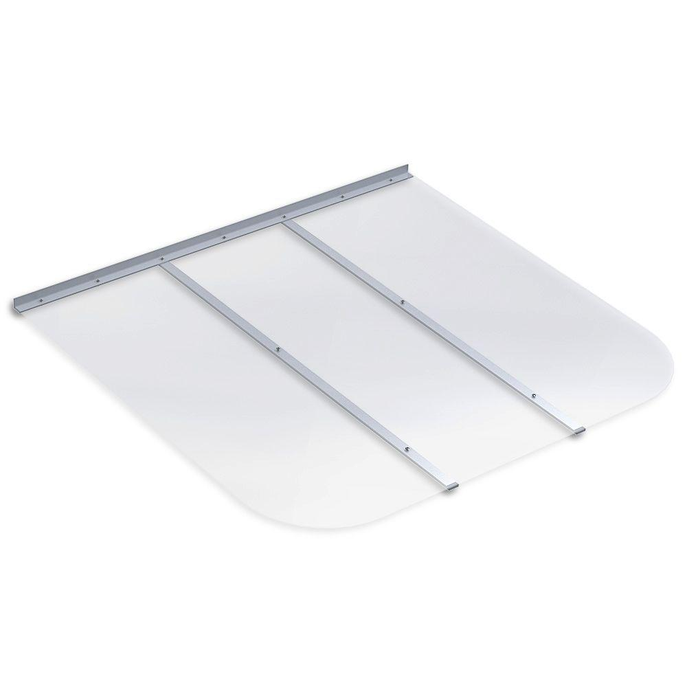 45 in. x 42 in. Rectangular Clear Polycarbonate Window Well Cover