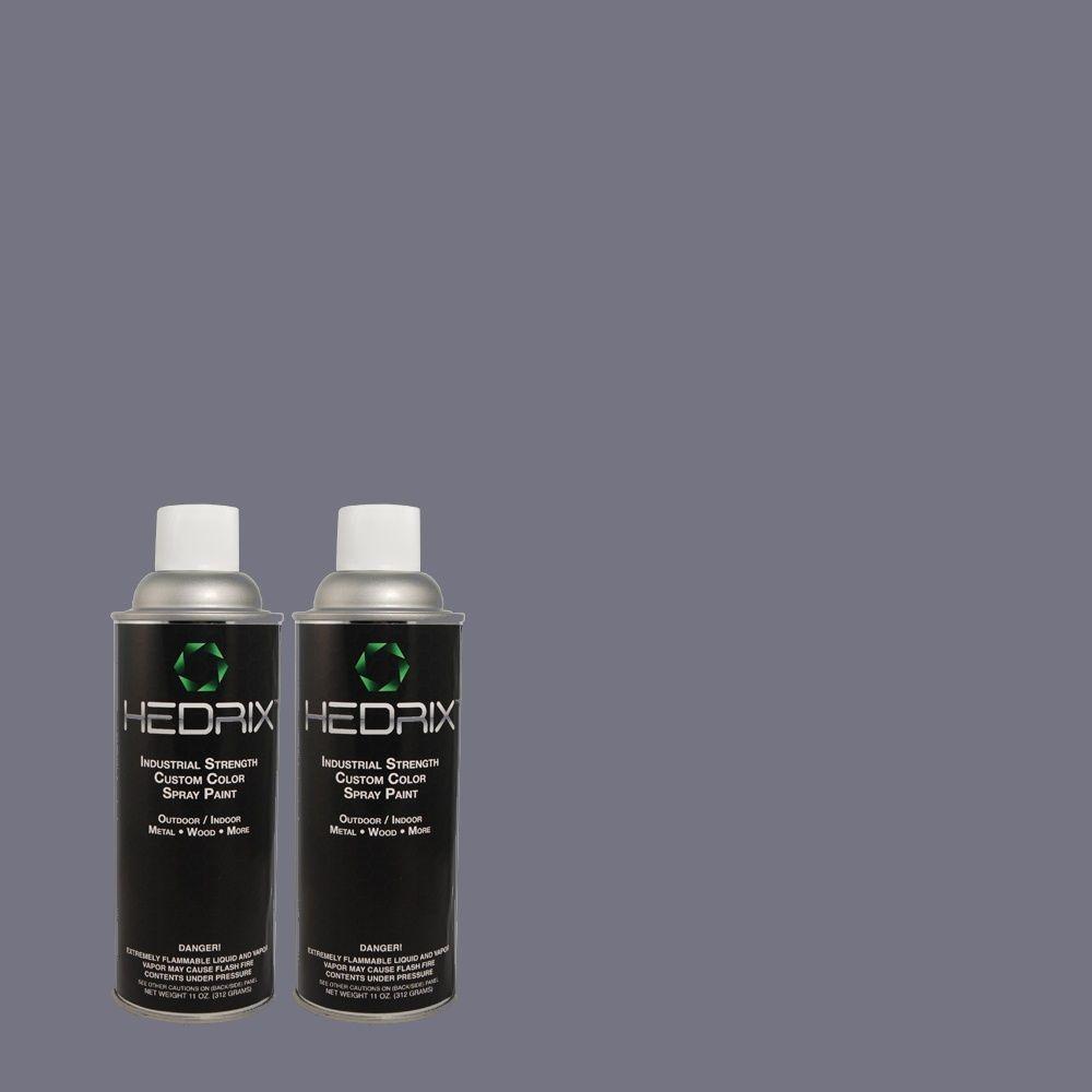 Hedrix 11 oz. Match of 600F-6 Atlantic Blue Semi-Gloss Custom Spray Paint (2-Pack)