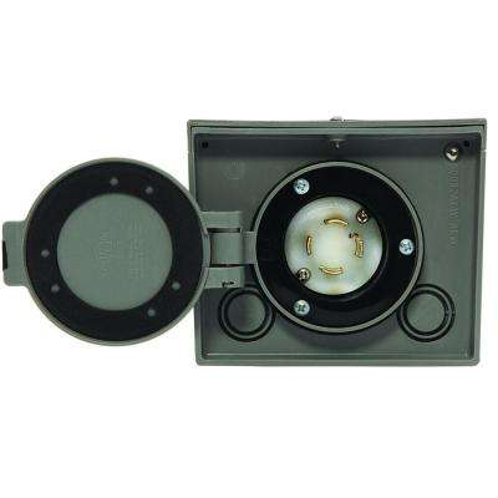 30-Amp Raintight Resin Power Inlet Box