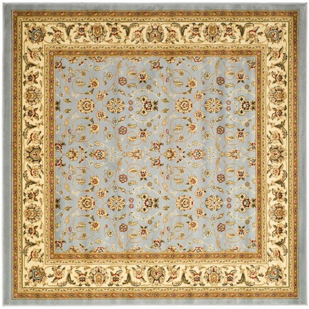 Lyndhurst Light Blue/Ivory 8 ft. x 8 ft. Square Area Rug