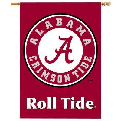 NCAA 28 in. x 40 in. Alabama 2-Sided Banner with Pole Sleeve