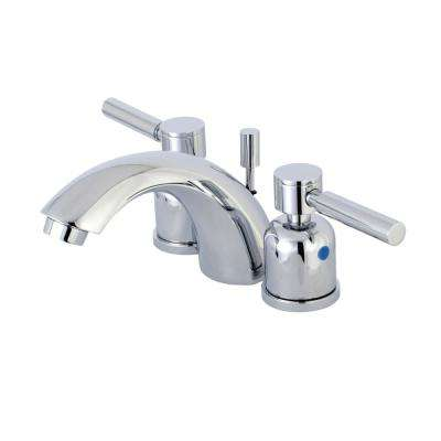 4 in. Minispread 2-Handle Mid-Arc Bathroom Faucet in Polished Chrome